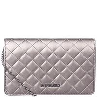 Женская маленькая сумка Love Moschino серебристого цвета, фото