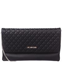 Стеганая сумка-клатч Love Moschino черного цвета, фото