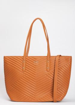 Коричневая сумка 19V69 Italia с геометрической стежкой, фото