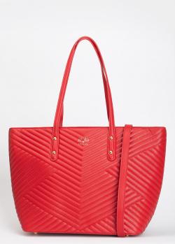 Стеганая сумка-шоппер 19V69 Italia красного цвета, фото