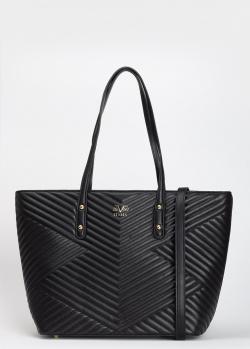 Стеганая сумка 19V69 Italia черного цвета, фото