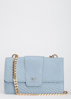 Стеганый клатч 19V69 Italia голубого цвета, фото