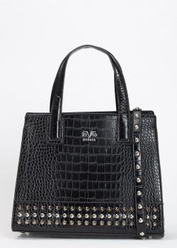 Черная сумка 19V69 Italia с тиснением кроко, фото