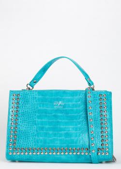 Голубая сумка 19V69 Italia с тиснением под рептилию, фото