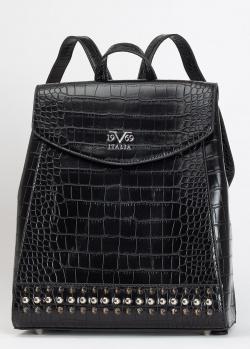 Черный рюкзак 19V69 Italia с тиснением под рептилию, фото