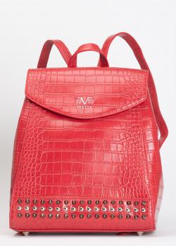 Красный рюкзак 19V69 Italia с декором-заклепками, фото