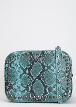 Голубая сумка 19V69 Italia с принтом змеиной кожи, фото