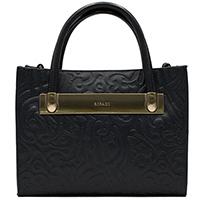 Черная сумка Ripani с тиснением на коже, фото