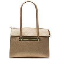 Золотистая сумка Ripani с флористическим тиснением, фото