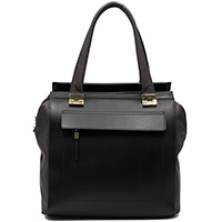 Черная сумка Ripani с золотистыми элементами, фото
