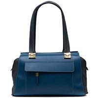 Синяя сумка Ripani Sole с накладным карманом, фото
