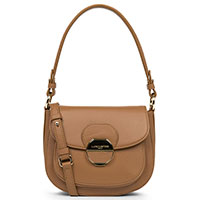 Коричневая сумка Lancaster Mademoiselle Mia с накладным карманом, фото