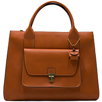 Коричневая сумка Ripani с накладным карманом на замке-застежке, фото