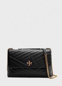 Черная сумка Tory Burch Kira Chevron из стеганой кожи, фото
