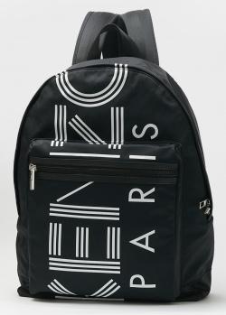 Черный рюкзак Kenzo с принтом-логотипом, фото