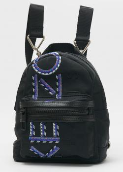 Текстильный рюкзак Kenzo с фирменной вышивкой, фото