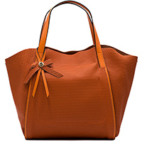 Оранжевая сумка Ripani с декором-бантом, фото