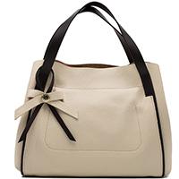 Бежевая сумка Ripani с декором в форме банта, фото