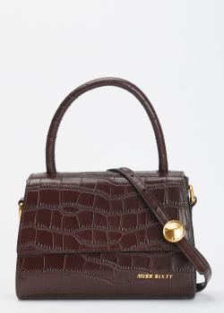 Коричневая сумка Miss Sixty с тиснением кроко, фото