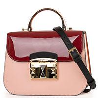 Сумка Cromia It Colored розового цвета с лаковой вставкой, фото