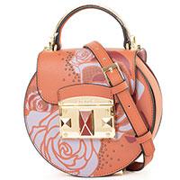 Коричневая сумка-седло Cromia It Rosever с цветочным принтом, фото