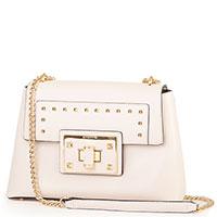 Бежевая сумка Cromia Allure на цепочке, фото