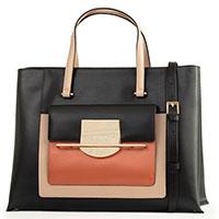 Черная сумка Cromia Romy с коричневыми вставками, фото