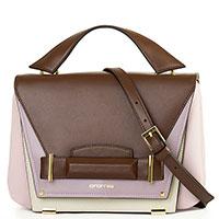 Фиолетовая сумка Cromia Avantgarde с коричневыми вставками, фото