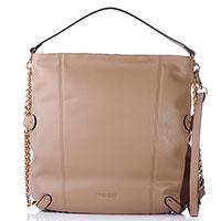 Бежевая сумка Twin-Set с цепочками по бокам, фото