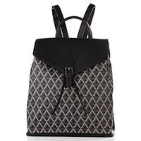 Черный рюкзак Lancaster Ikon с текстильными вставками, фото