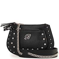 Черная сумка Blumarine Andrea на цепочке с заклепками, фото