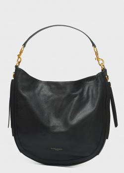 Женская сумка Gianni Chiarini Iris из кожи на широком ремне, фото