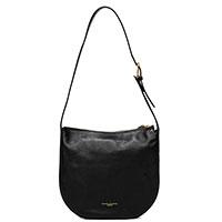 Черная сумка Gianni Chiarini Petra из фактурной кожи, фото