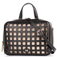 Черная сумка Cavalli Class Tessa с прорезями, фото