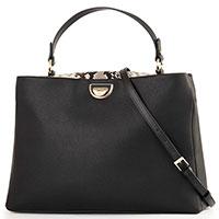 Черная сумка Cavalli Class Everyday с животным принтом, фото