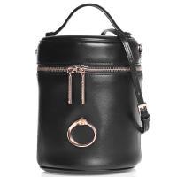 Черная сумка Cavalli Class Petite в форме боченка, фото