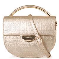 Золотистая сумка Baldinini Samantha с тиснением в виде логотипа, фото