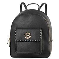 Рюкзак Baldinini Carry черного цвета с металлическим логотипом, фото