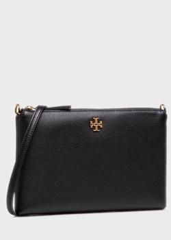 Черная сумка кросс-боди Tory Burch Kira Pebbled из кожи, фото