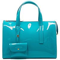 Голубая сумка Ripani Musa из лаковой кожи, фото