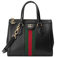 Черная сумка Gucci с декором-лентой, фото
