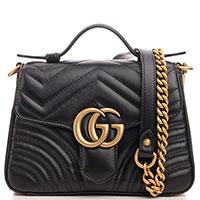 Стеганая сумка Gucci Marmont из мягкой кожи, фото