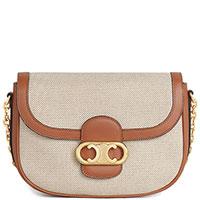 Коричневая сумка Celine на цепочке, фото