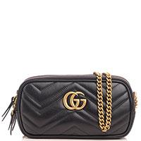 Стеганый клатч Gucci Marmont черного цвета, фото