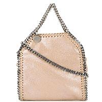 Бежевая сумка Stella McCartney с декором-цепочкой, фото