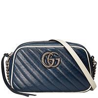 Синяя сумка Gucci на цепочке, фото