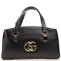 Черная сумка Gucci Arli с металлическим декором, фото