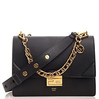 Черная сумка Fendi Kan U из матовой кожи, фото