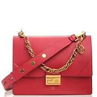 Красная сумка Fendi Kan U с рельефными углами, фото