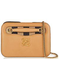 Коричневая сумка Fendi на цепочке, фото